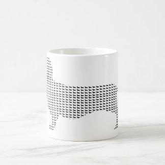 Dachshund Silhouette From Many Basic White Mug