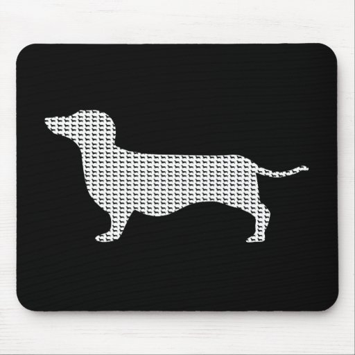 Dachshund Silhouette From Many Mousepad