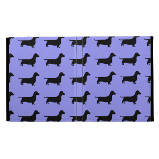 Dachshund Silhouette Pattern on any color iPad Case