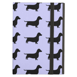 Dachshund Silhouette Pattern on any color iPad Folio Case