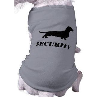 Dachshund Silhouette - SECURITY Dog Sleeveless Dog Shirt