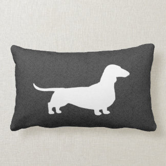 Dachshund Silhouette - Short Haired Wiener Dog Lumbar Cushion