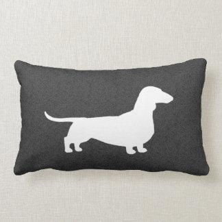 Dachshund Silhouette - Short Haired Wiener Dog Lumbar Pillow