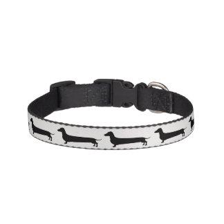 Dachshund silhouette small dog collar