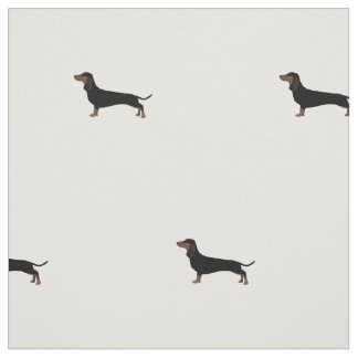 Dachshund Silhouette Tiled Fabric Custom Spacing 2