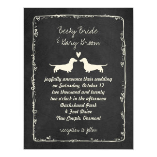 Dachshund Silhouettes Wedding Card