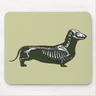 dachshund skeleton mouse pad