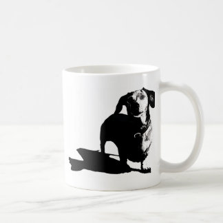 Dachshund Sketch Basic White Mug