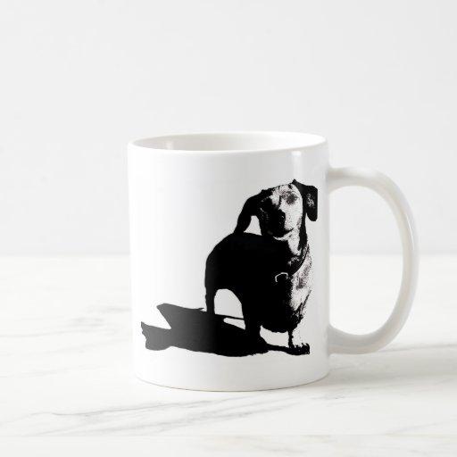Dachshund Sketch Coffee Mugs