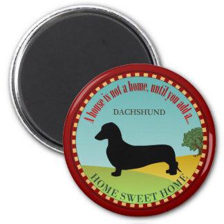 Dachshund [Smooth] 6 Cm Round Magnet