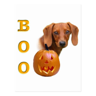 Dachshund (smooth) Boo Postcard
