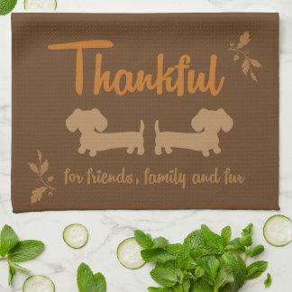 Dachshund Thanksgiving Dish Towel
