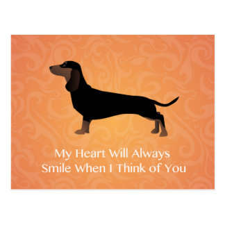 Dachshund - Thinking of You Design Postcard