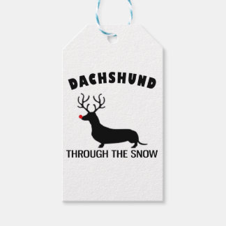 dachshund through the snow gift tags