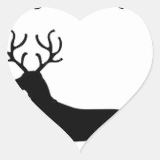dachshund through the snow heart sticker