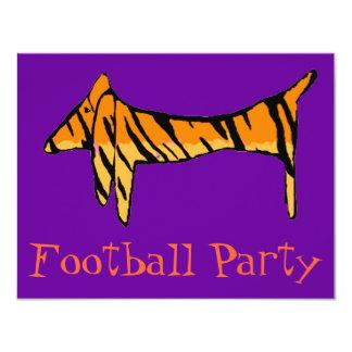 Dachshund Tiger Party 11 Cm X 14 Cm Invitation Card