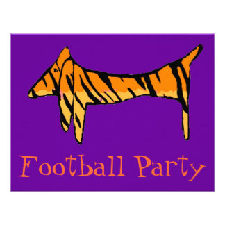 Dachshund Tiger Party Personalized Announcement