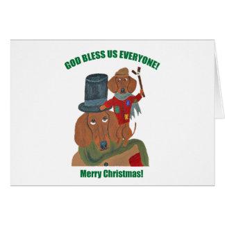 Dachshund Tiny Tim Greeting Cards