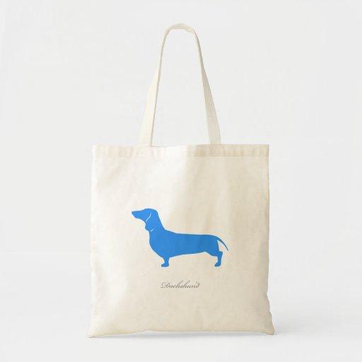 Dachshund Tote Bag (blue smooth version 1)