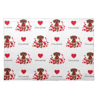 Dachshund Valentine Cartoon Placemat