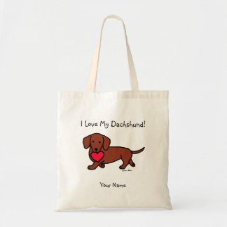 Dachshund Valentine Cartoon Bags