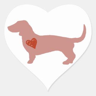 Dachshund Valentine's Day Heart Sticker