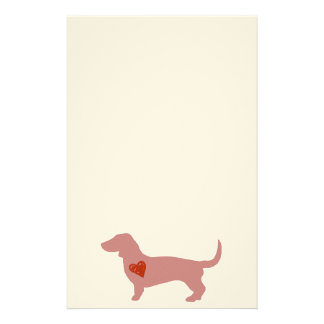 Dachshund Valentine's Day Stationery