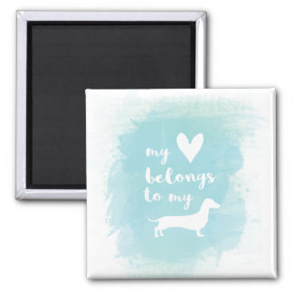 Dachshund watercolor magnet