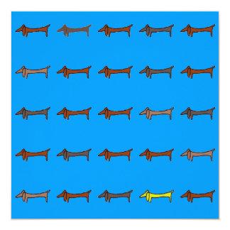Dachshund, Weiner Dog 13 Cm X 13 Cm Square Invitation Card