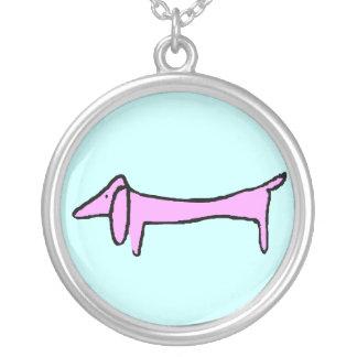 Dachshund, Weiner dog Silver Plated Necklace