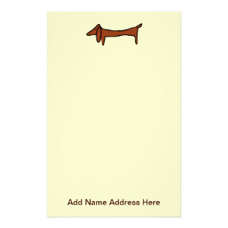 Dachshund Weiner Dog Stationery