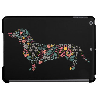 Dachshund Wiener Dog Floral Pattern Watercolor Art