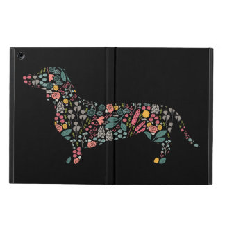 Dachshund Wiener Dog Floral Pattern Watercolor Art iPad Air Case