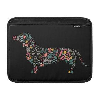 Dachshund Wiener Dog Floral Pattern Watercolor Art Sleeve For MacBook Air