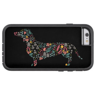 Dachshund Wiener Dog Floral Pattern Watercolor Art Tough Xtreme iPhone 6 Case