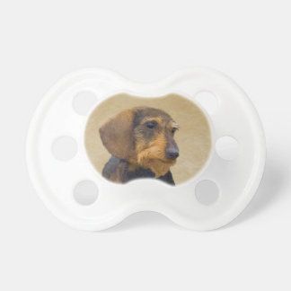 Dachshund (Wirehaired) Painting Original Dog Art Dummy