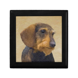 Dachshund (Wirehaired) Painting Original Dog Art Gift Box