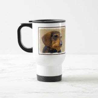 Dachshund (Wirehaired) Painting Original Dog Art Travel Mug
