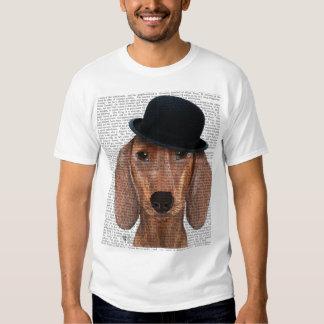 Dachshund with Black Bowler Hat Shirts