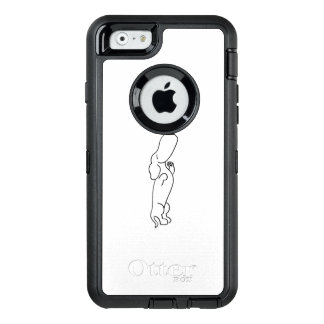 Dachshund with Butterfly OtterBox Defender iPhone Case