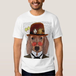 Dachshund with Steampunk Bowler Hat Shirts