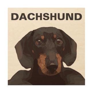 DACHSHUND WOOD WALL ART