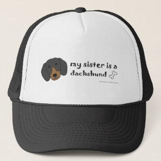 DachshundBlackTanSister Trucker Hat