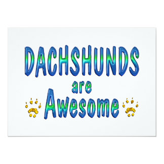 Dachshunds are Awesome Personalized Invitation