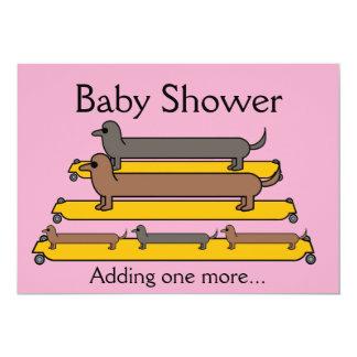 Dachshunds baby shower invitation