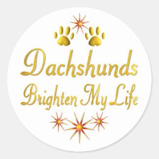 Dachshunds Brighten My Life Stickers