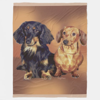 Dachshunds fleece blanket