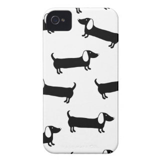 Dachshunds in black and white iPhone 4 cases
