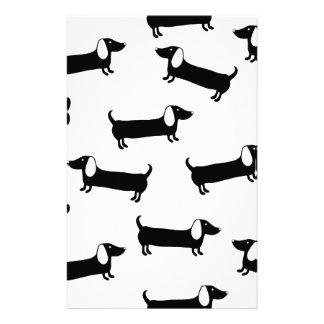 Dachshunds in black and white stationery