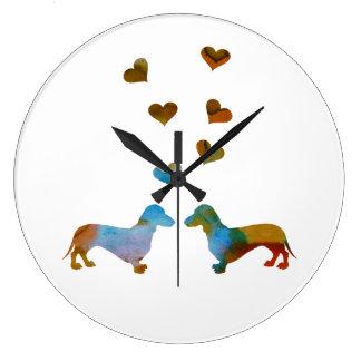 Dachshunds Large Clock